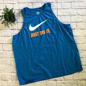 Men's Nike 3xl blue tank top Just Do It!